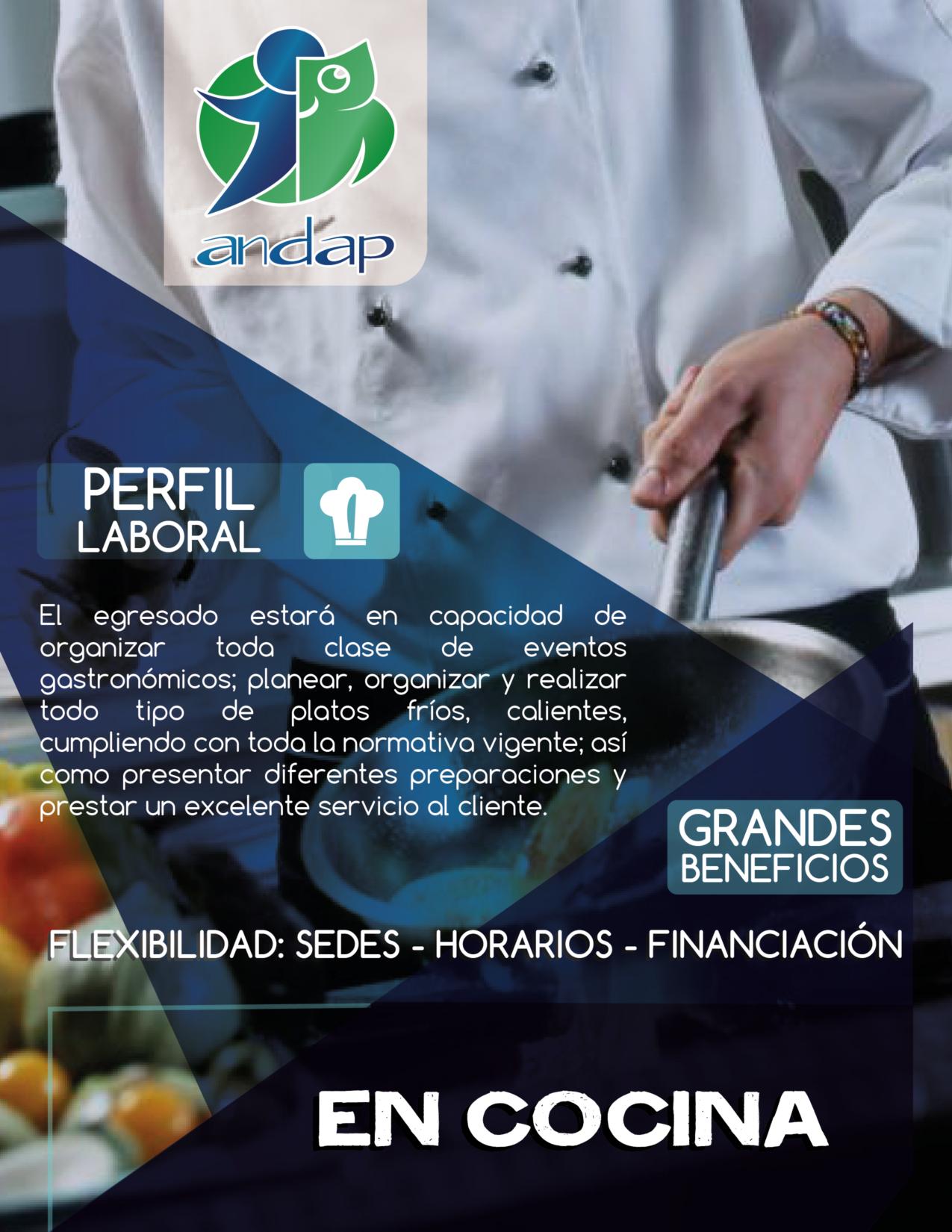 Auxiliar en Cocina Bogotá ANDAP