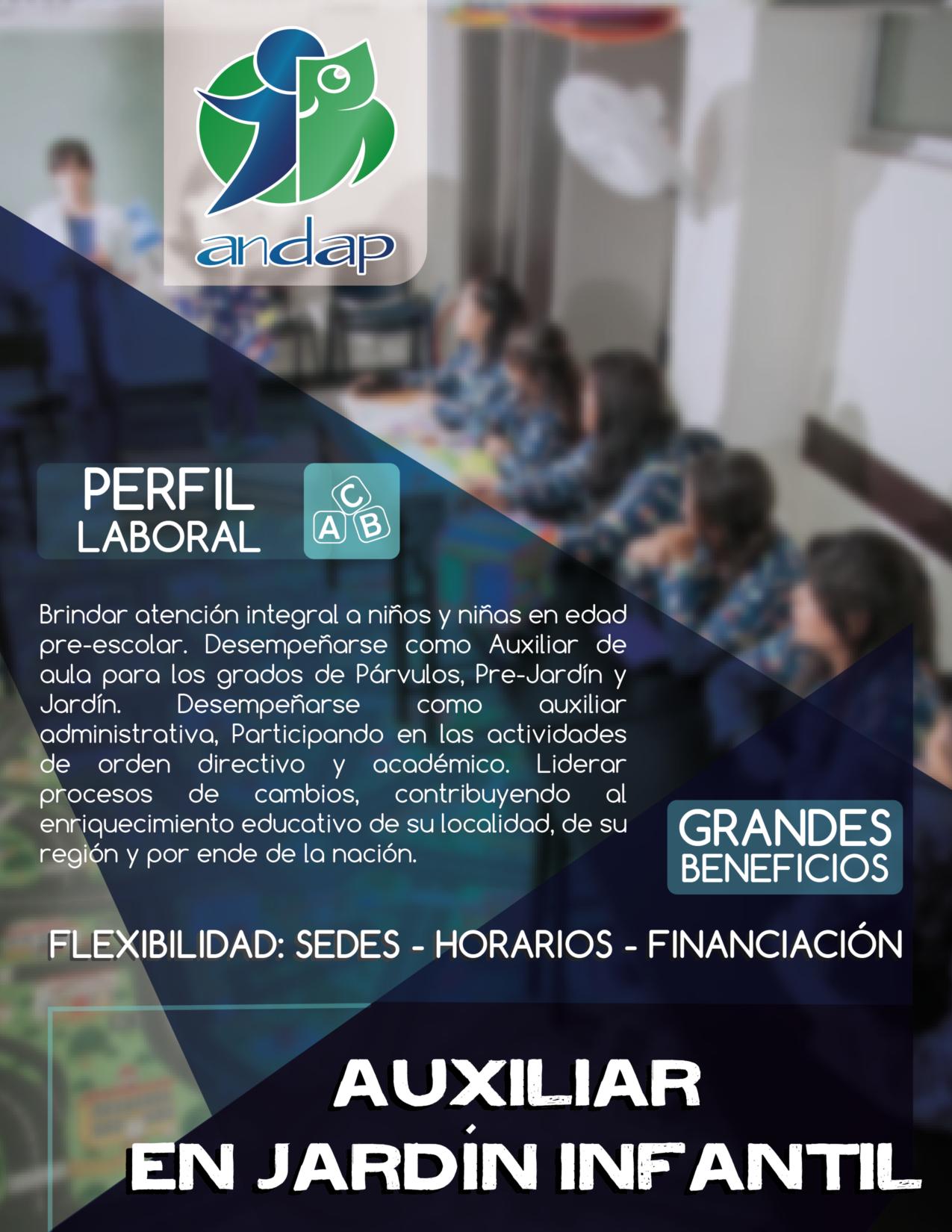 Auxiliar en Jardín Infantil Bogotá ANDAP