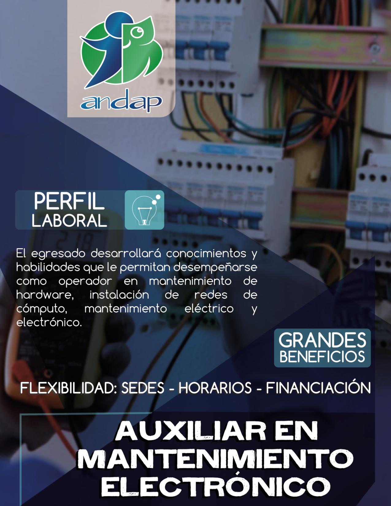 Auxiliar en Mantenimiento Electrónico y Eléctrico Bogotá ANDAP