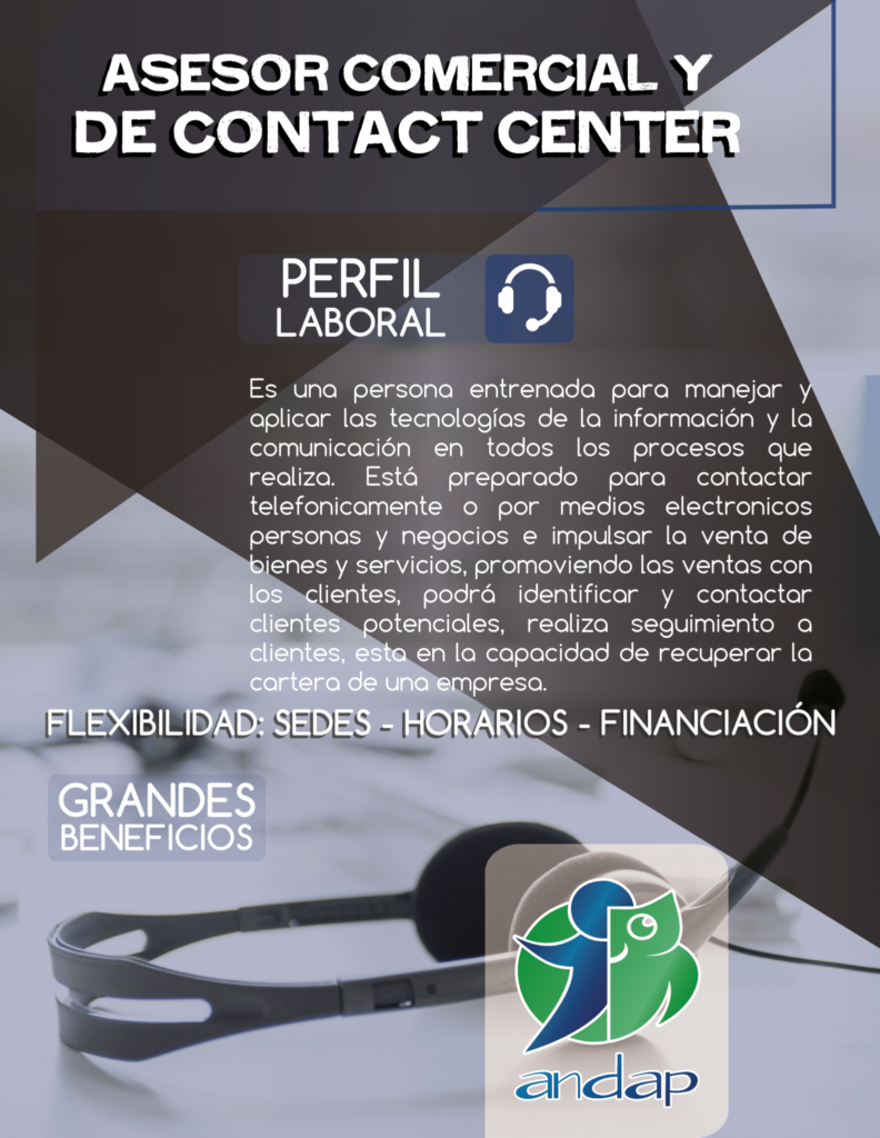 Asesor Comercial y de Contact Center - Pereira ANDAP