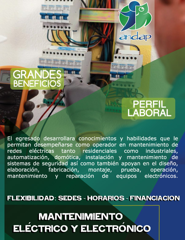 Mantenimiento Eléctrico y Electrónico-MAnizales - ANDAP